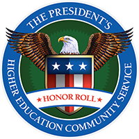 President's Higher Education Community Service logo